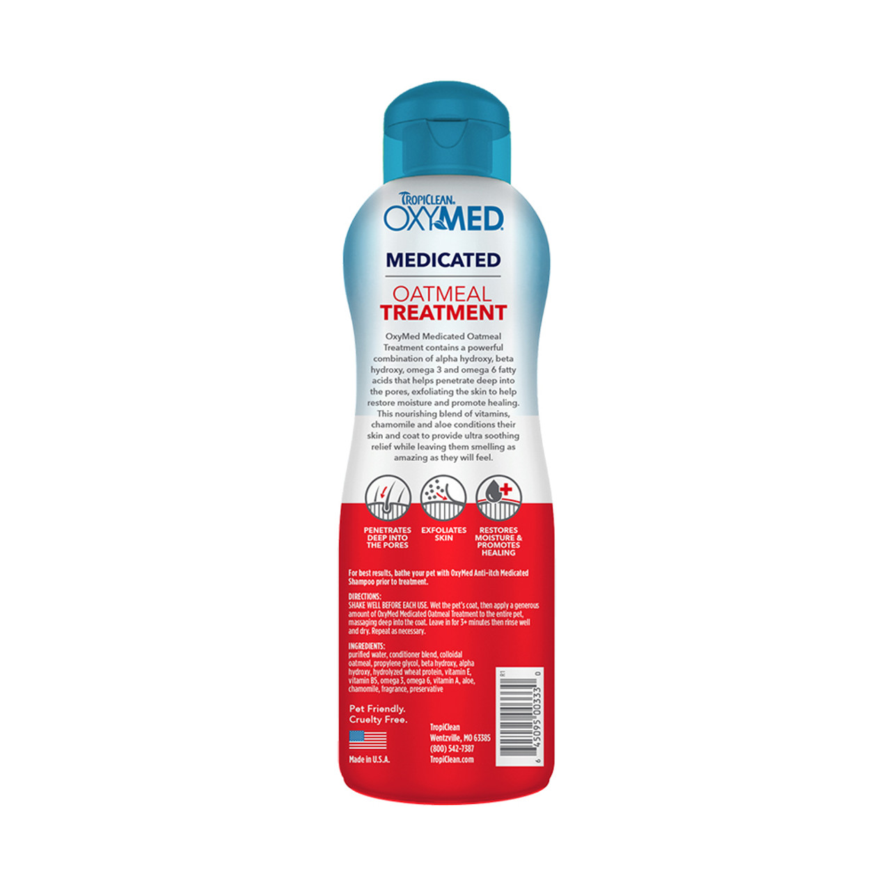 TropiClean OxyMed Medicated Anti Itch Treatment Rinse for Pets