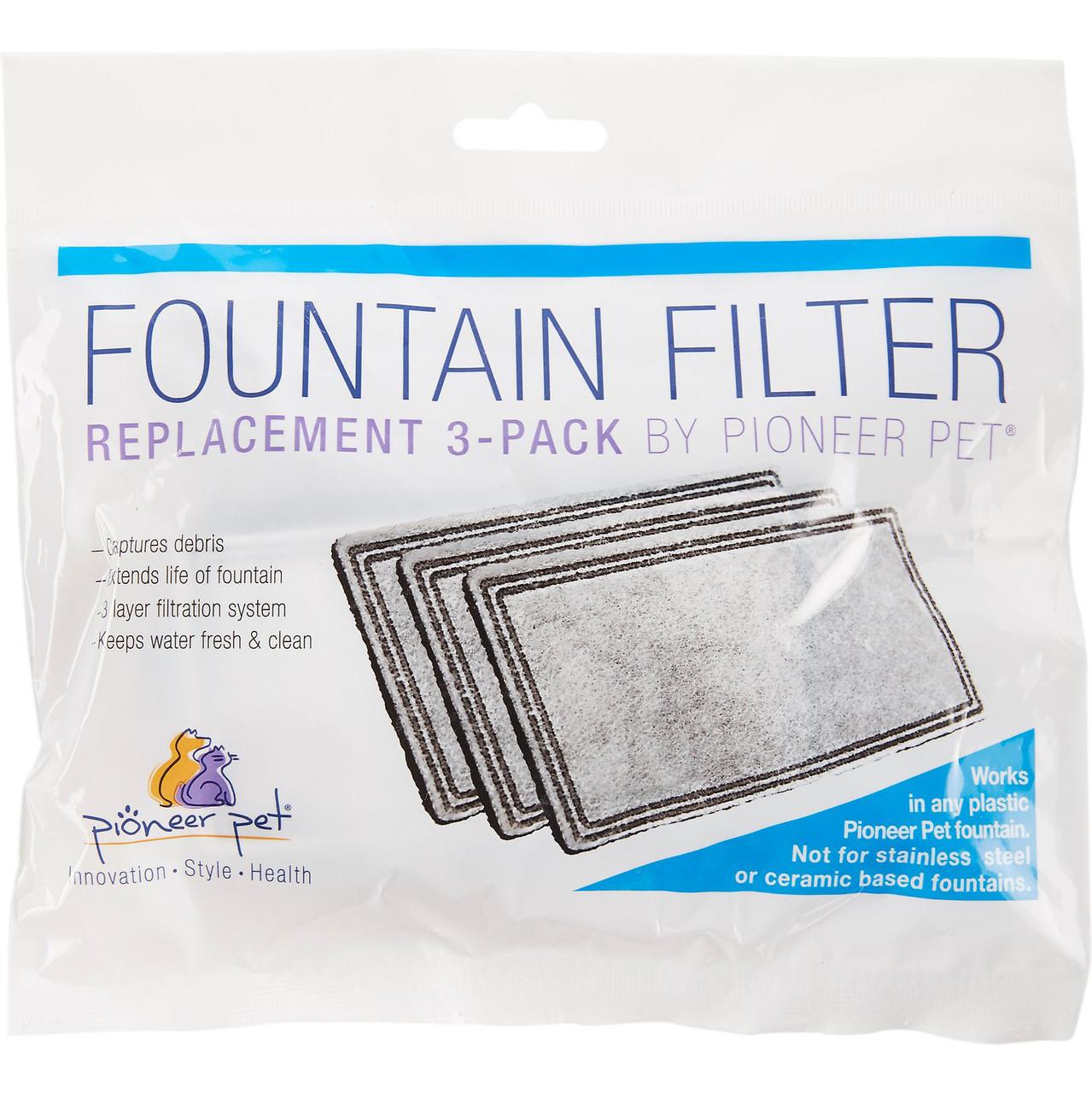 Pioneer Pet Plastic Raindrop Pet Fountain Replacement Filter