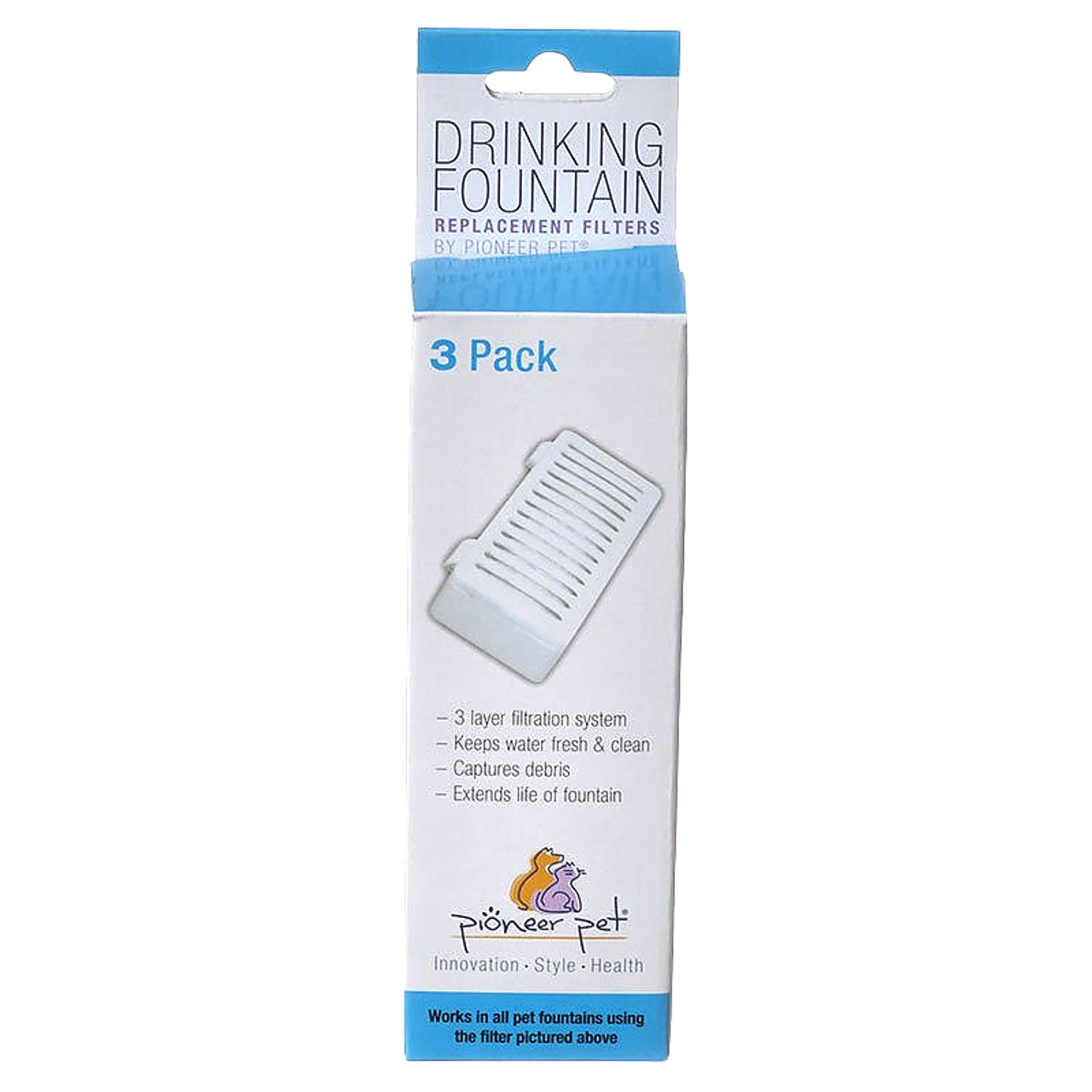 Pioneer Pet Serene Pet Fountain Replacement T-Shaped Filter