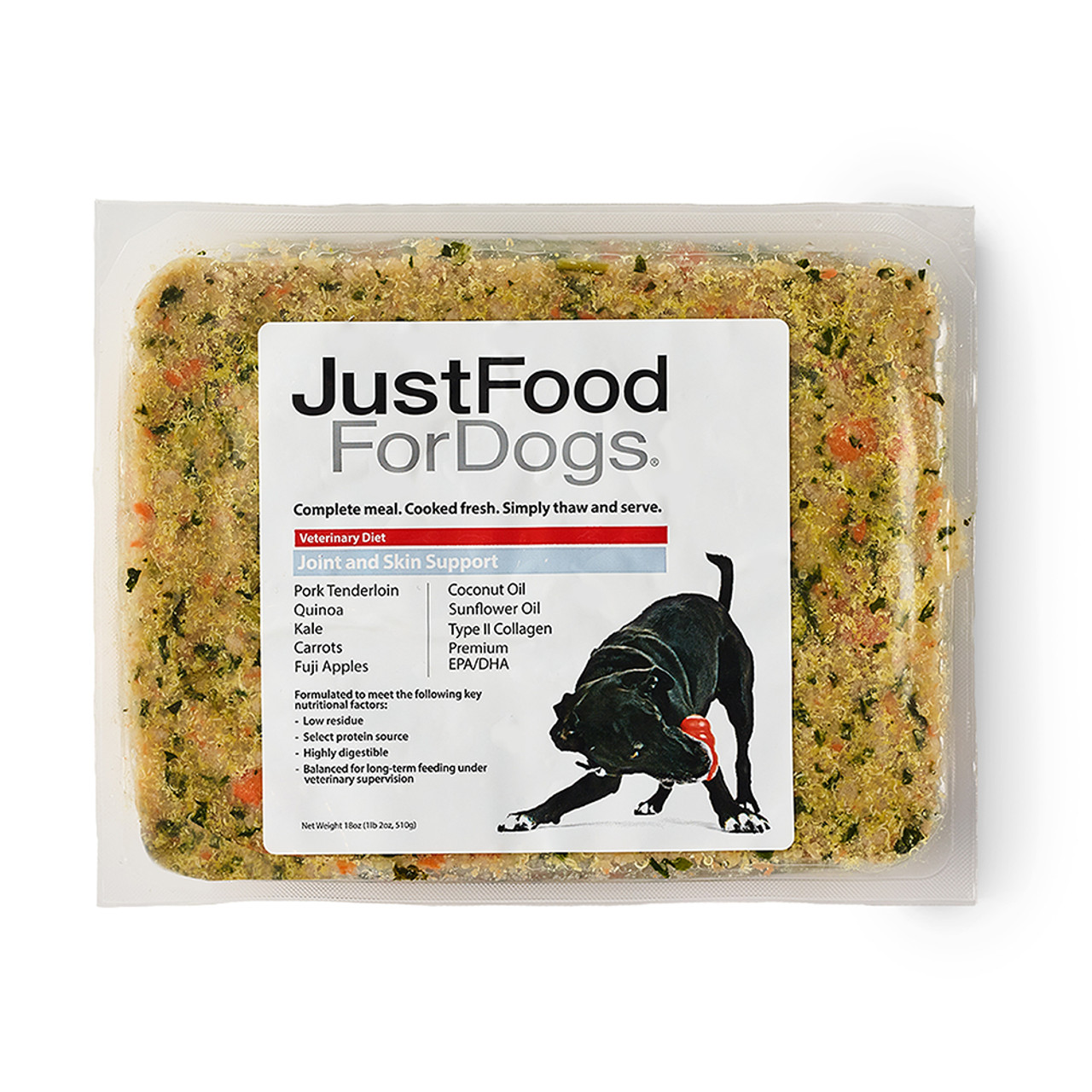 JustFoodForDogs Joint & Skin Support Frozen Cooked Dog Food