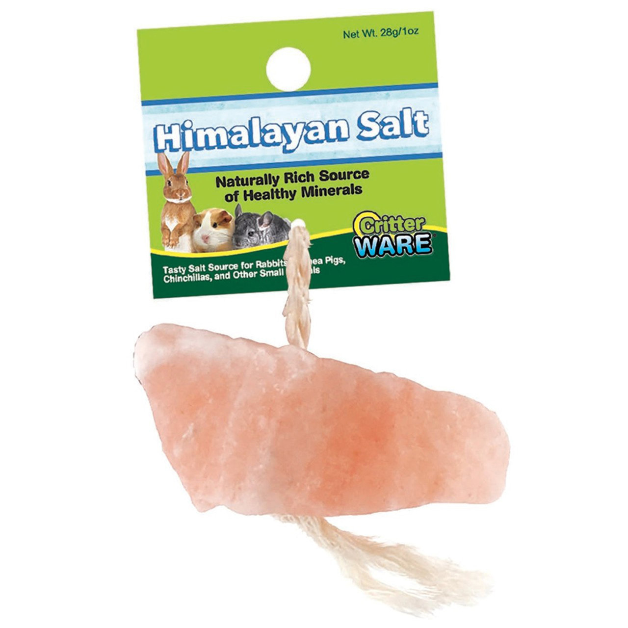 Critter Ware Himalayan Salt on a Rope for Small Animals