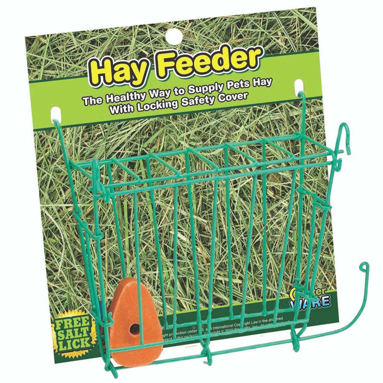 Critter Ware Hay Feeder with Free Salt Lick for Small Animals