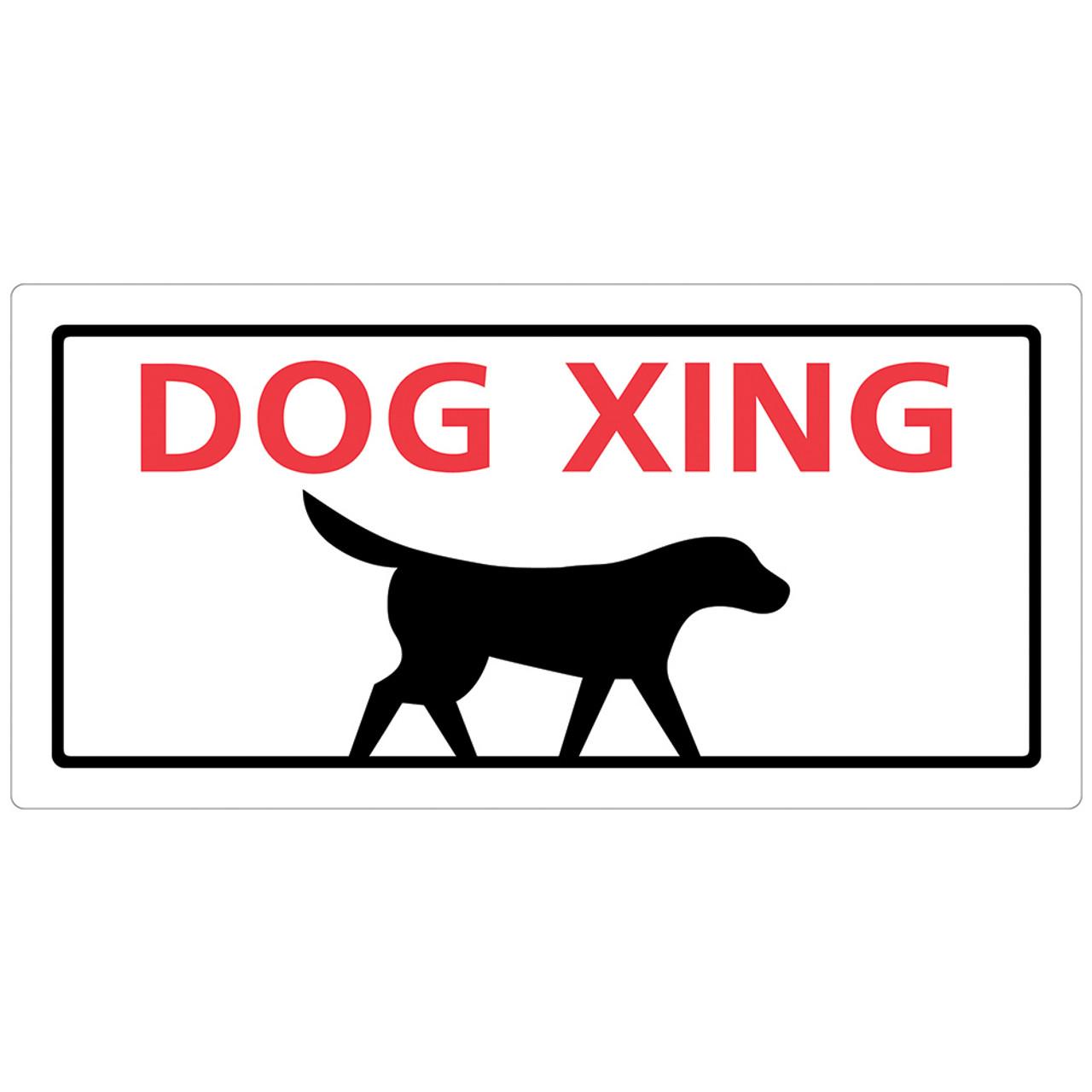 Hillman Dog Crossing Sign