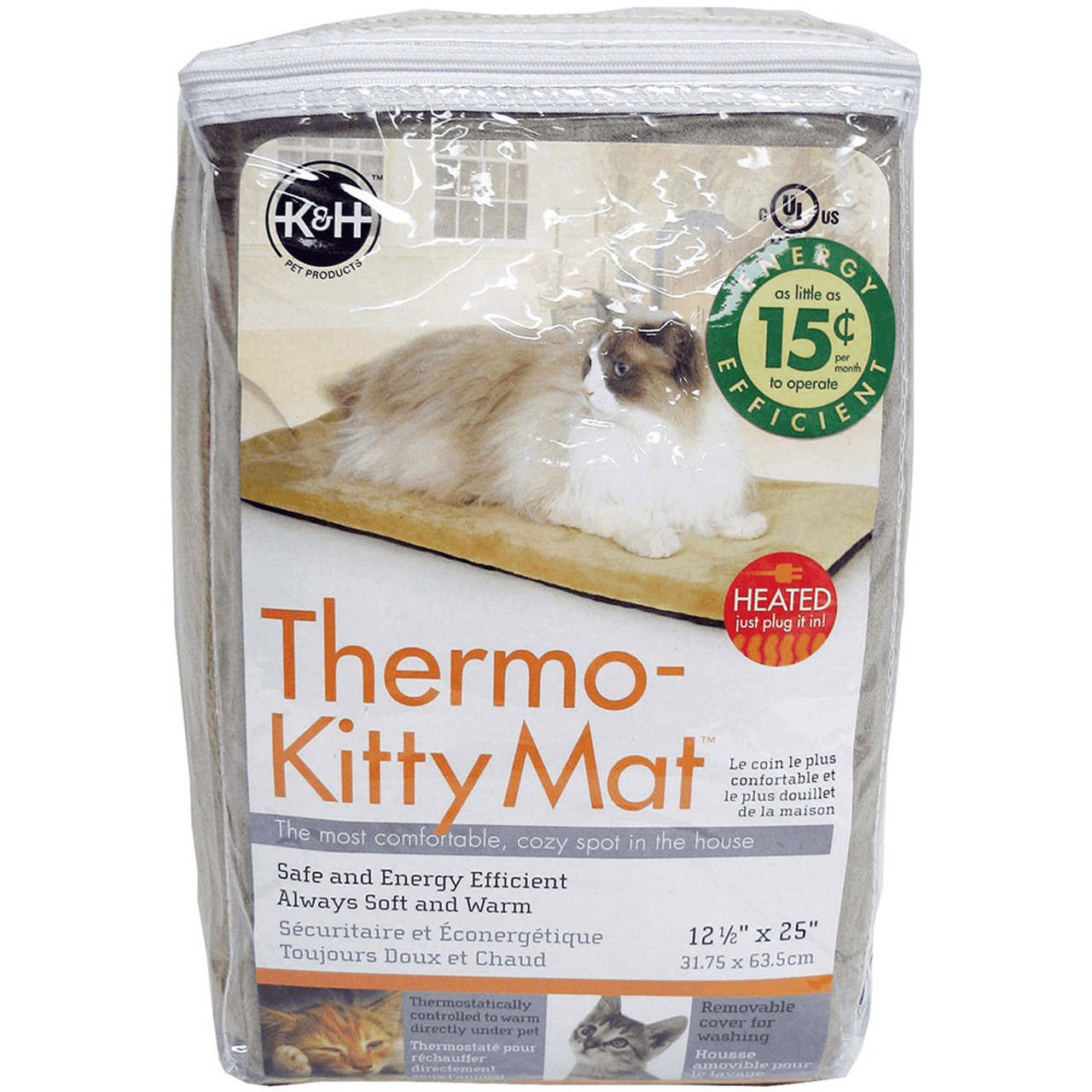 K&H Thermo-Kitty Mat Heated Cat Bed