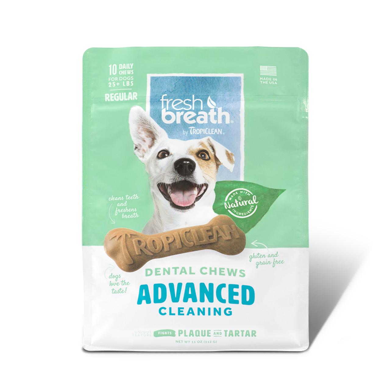 Fresh Breath By TropiClean Advanced Cleaning Dog Dental Chews