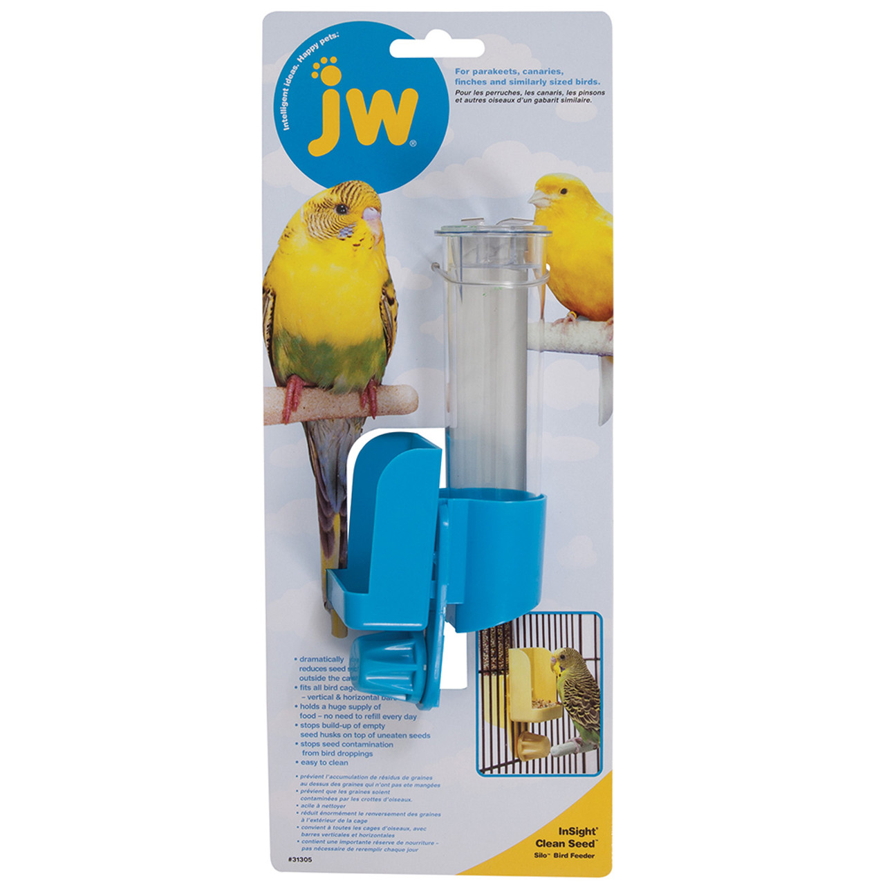 JW Pet Clean Seed Silo Bird Feeder
