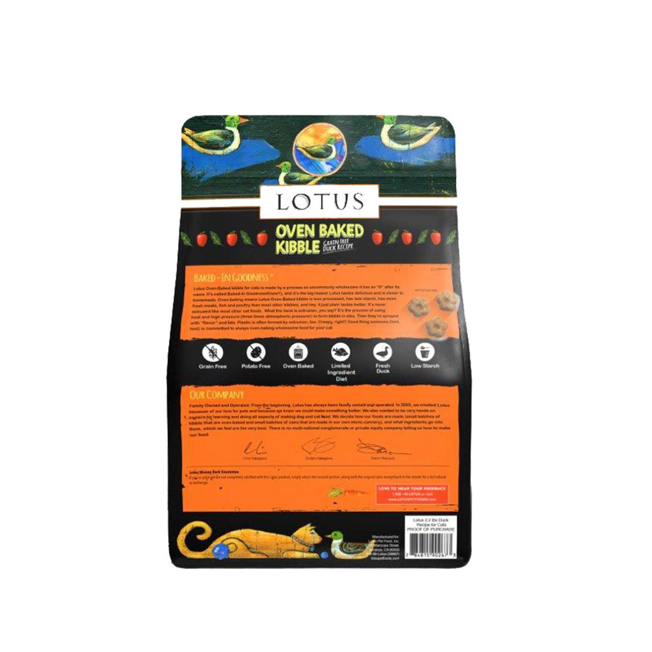 Lotus Oven Baked Grain Free Duck Recipe Dry Cat Food