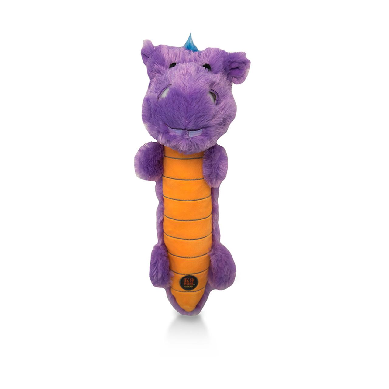 Charming Light Ups Purple Hippo Plush Dog Toy
