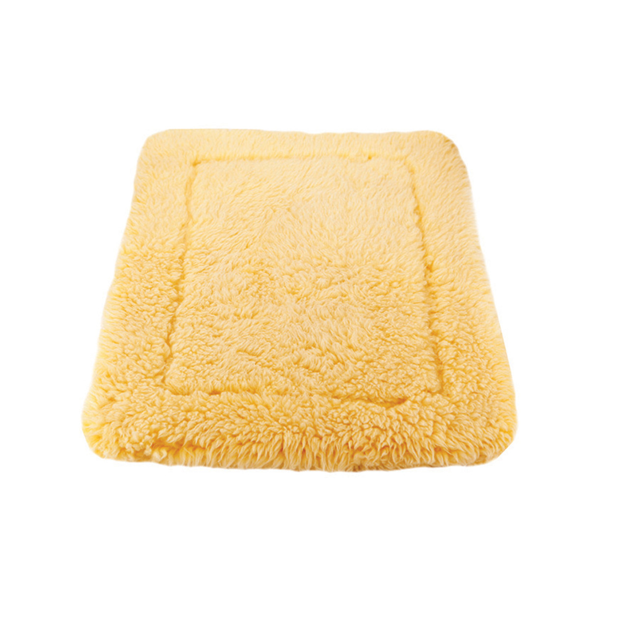 HuggleHounds HuggleFleece Natural Pet Mat - Front