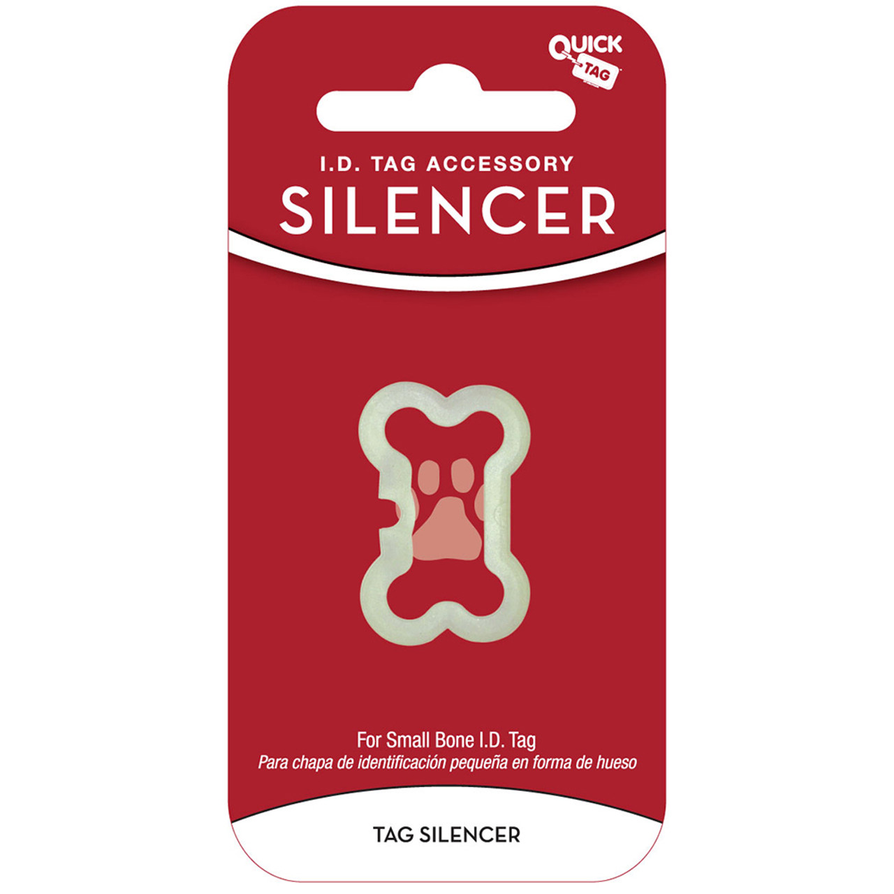 Quick Tag Bone Shaped Pet I.D. Tag Silencer