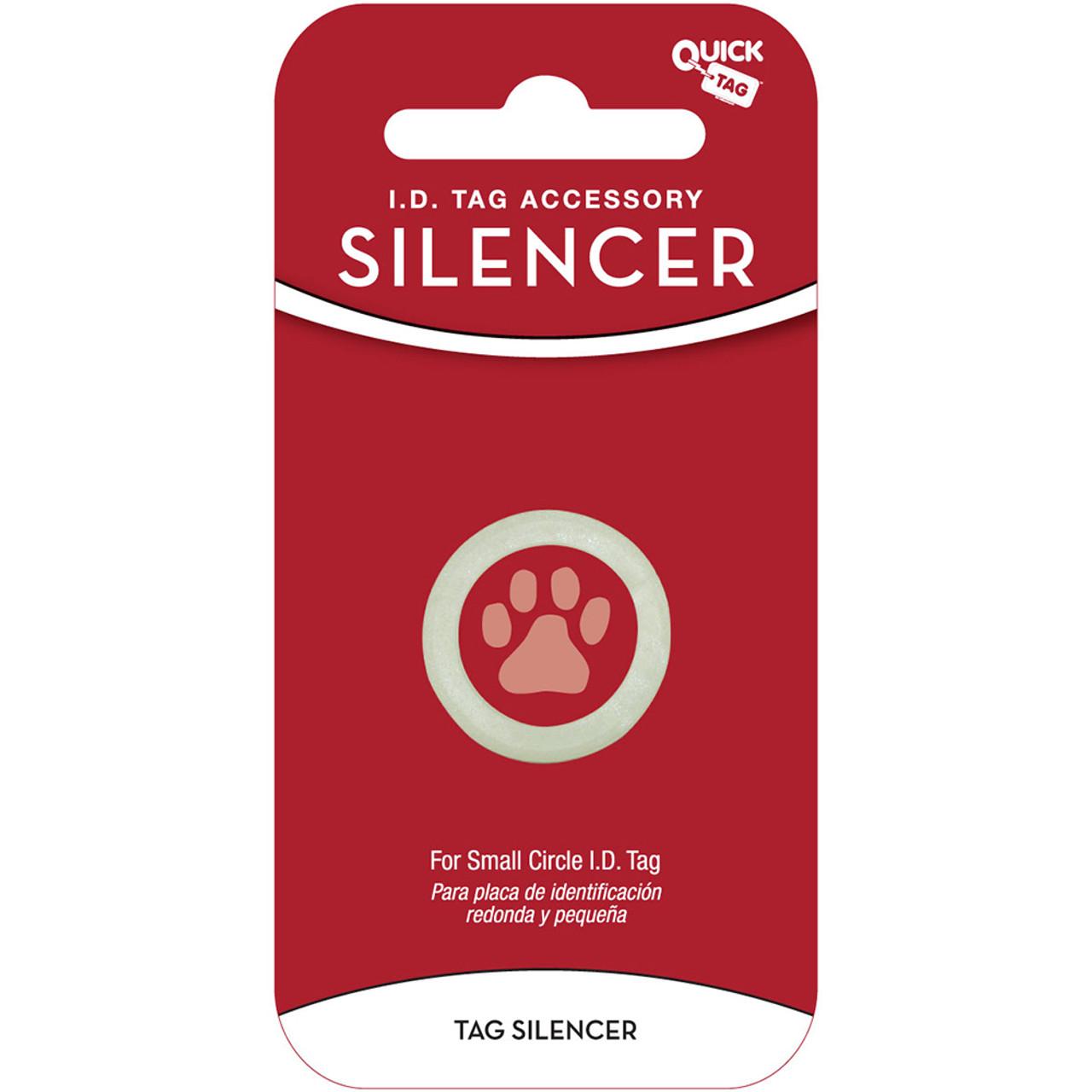 Quick Tag Circle Shaped Pet I.D. Tag Silencer