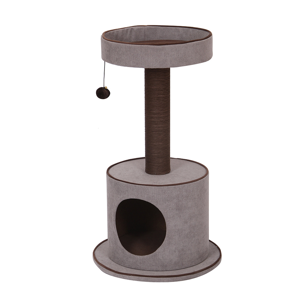 PetPals Steppe Chenille Cat Tree With Condo