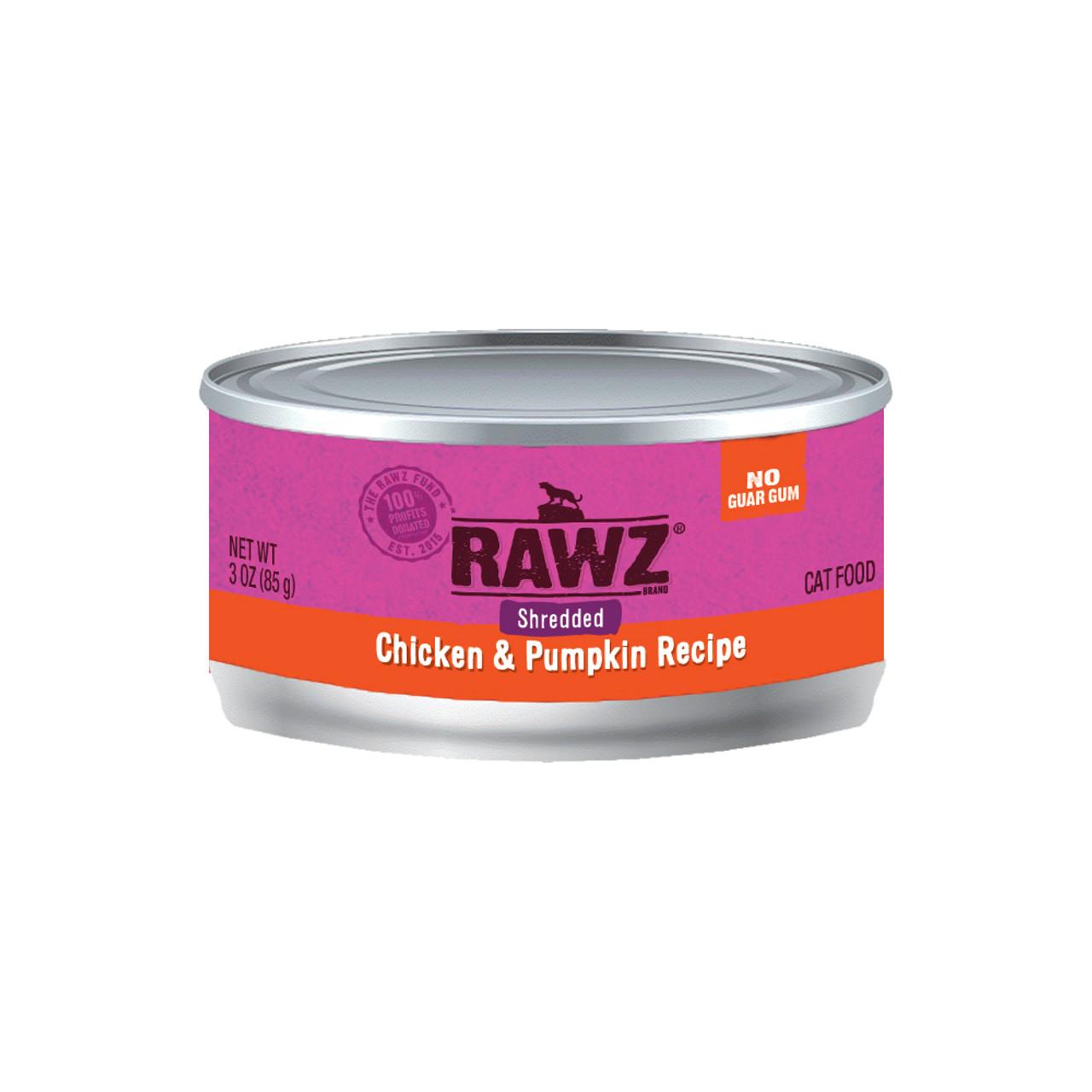 RAWZ Shredded Chicken & Pumpkin Recipe Adult Canned Cat Food