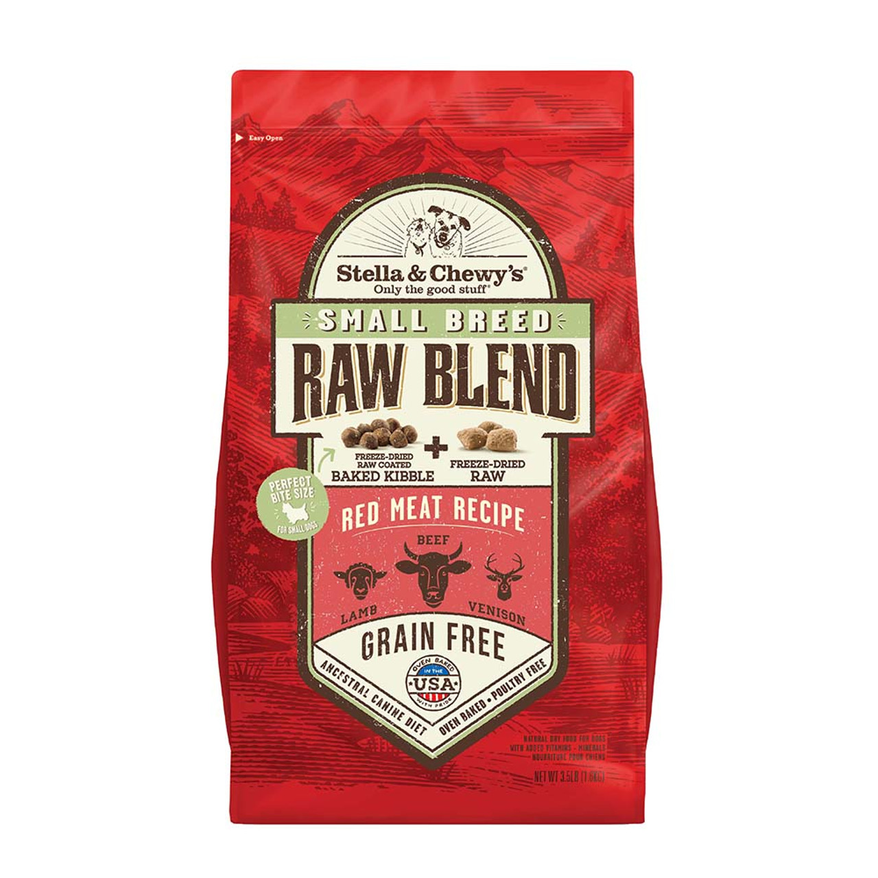 Stella & Chewy's Small Breed Raw Blend Red Meat Recipe Dry Dog Food