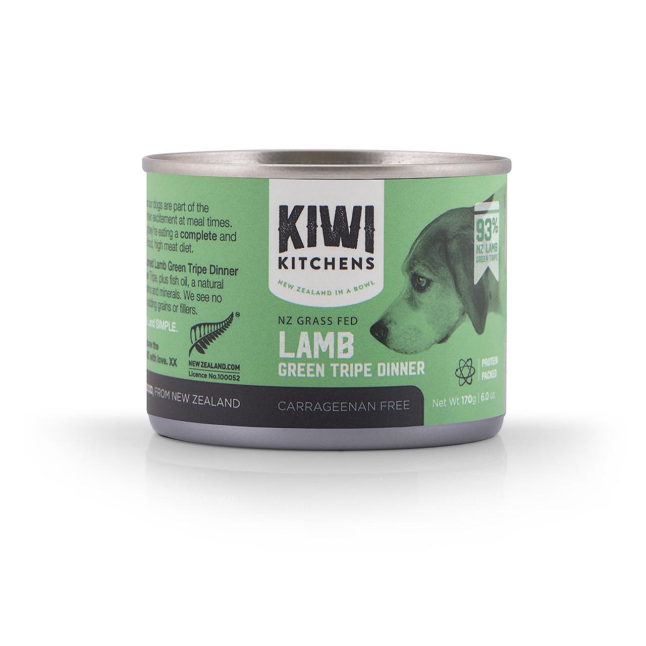 Kiwi Kitchens Grass Fed Lamb Green Tripe Dinner Canned Dog Food