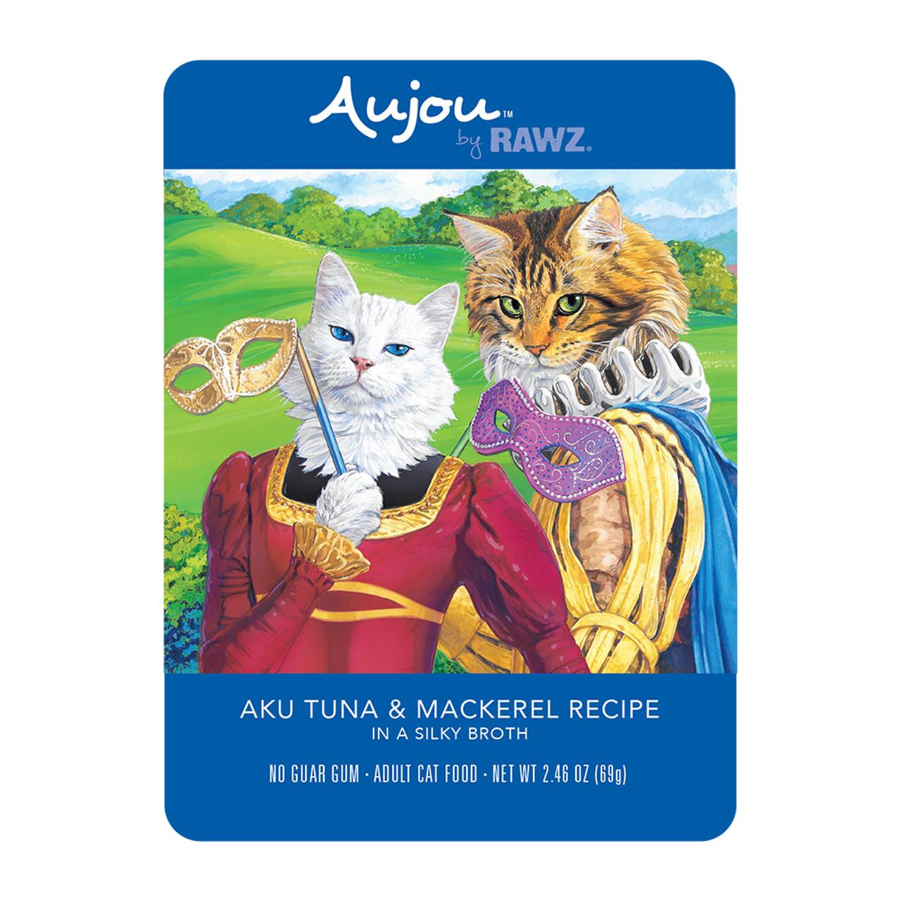 RAWZ Aujou Aku Tuna & Mackerel Recipe Wet Cat Food - Front