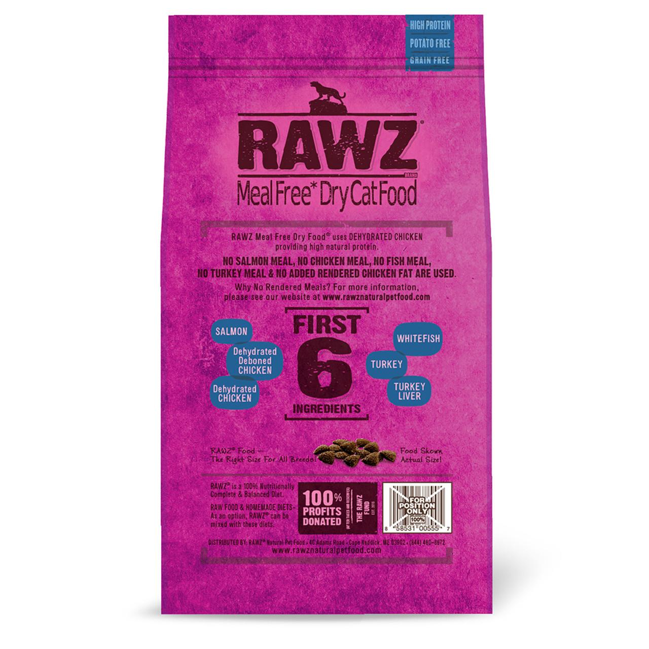 RAWZ Salmon, Dehydrated Chicken & Whitefish Recipe Natural Dry Cat Food