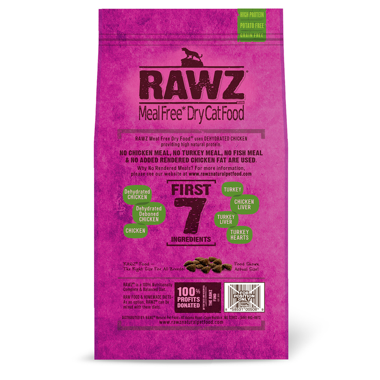 RAWZ Dehydrated Chicken, Turkey & Chicken Recipe Natural Dry Cat Food