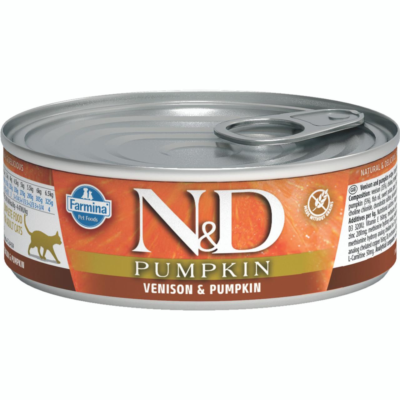 Farmina N&D Pumpkin Venison & Pumpkin Recipe Adult Canned Cat Food