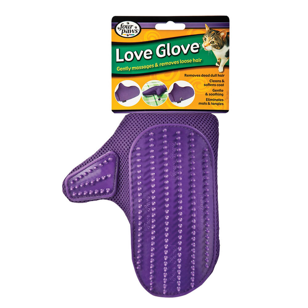Four Paws Love Glove Cat Grooming Mitt