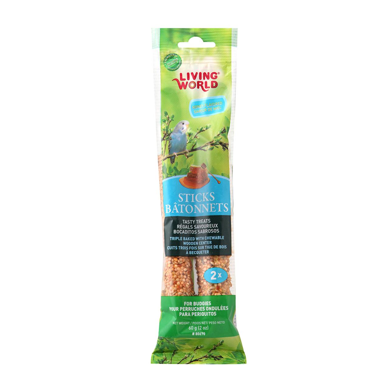 Living World Budgie Honey Flavor Bird Treat Sticks