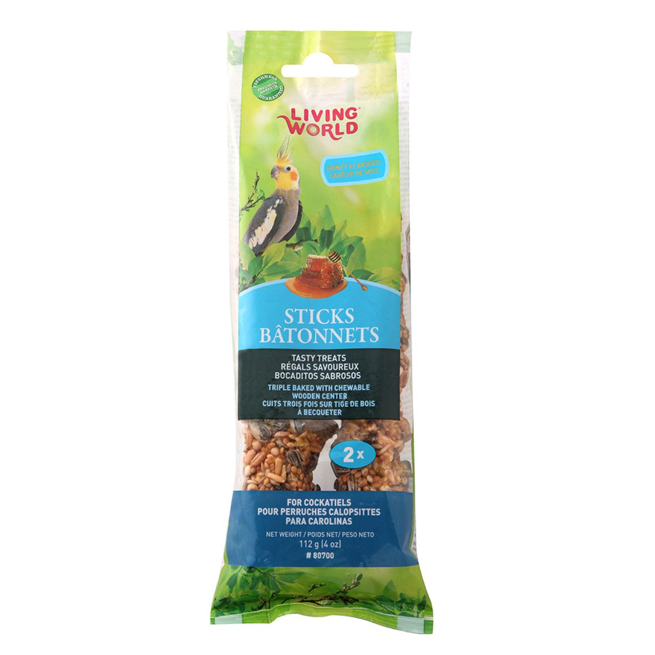 Living World Cockatiel Honey Flavor Bird Treat Sticks