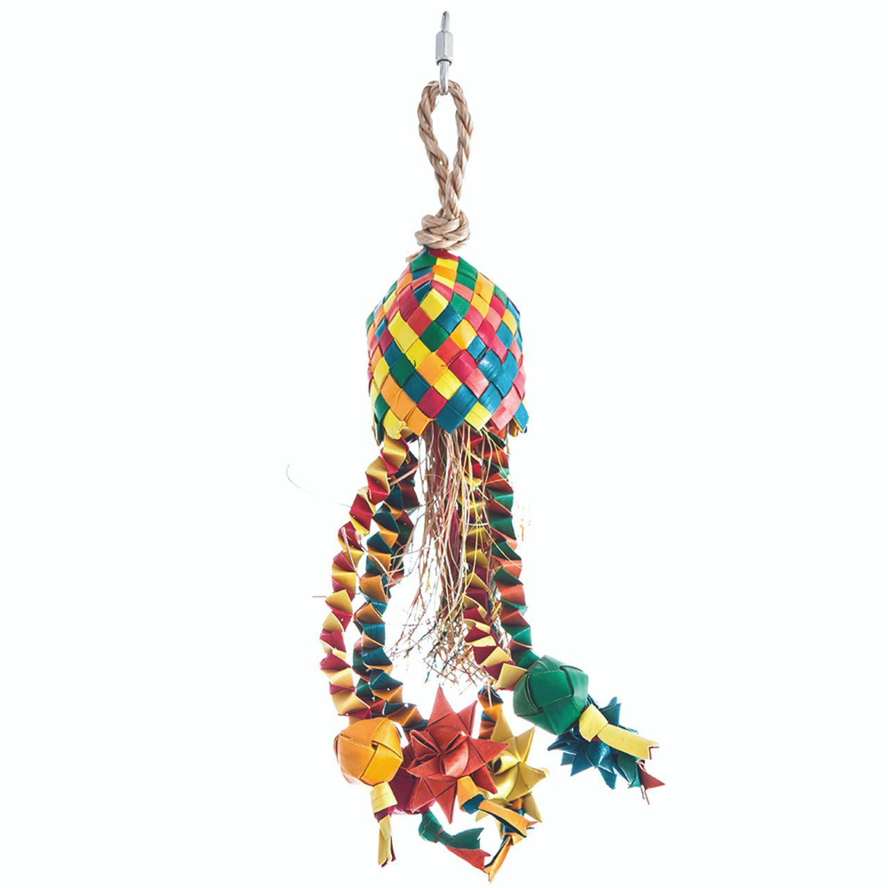 HARI Rustic Treasures Star Basket Bird Toy