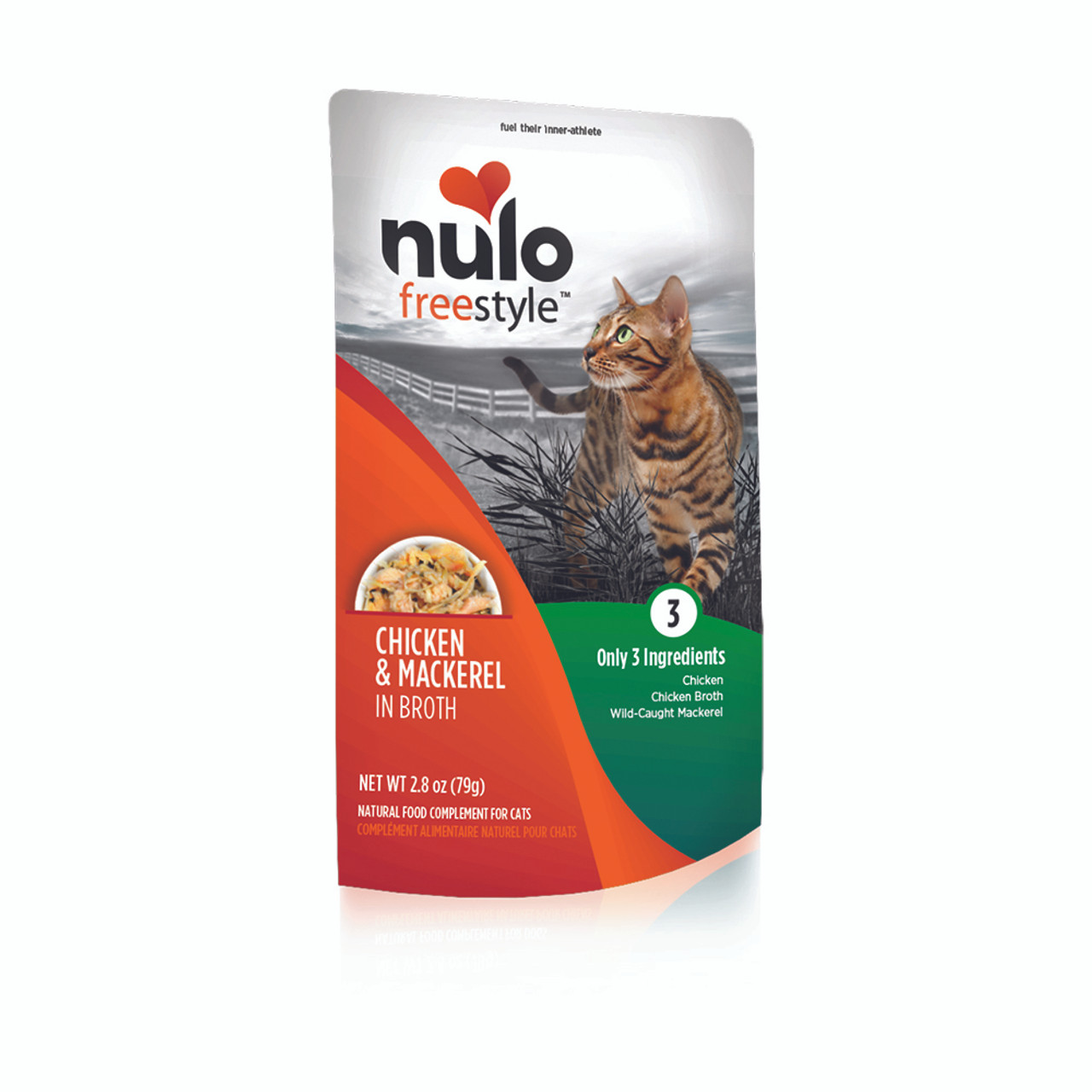 Nulo Freestyle Chicken & Mackerel in Broth Cat Food Pouch