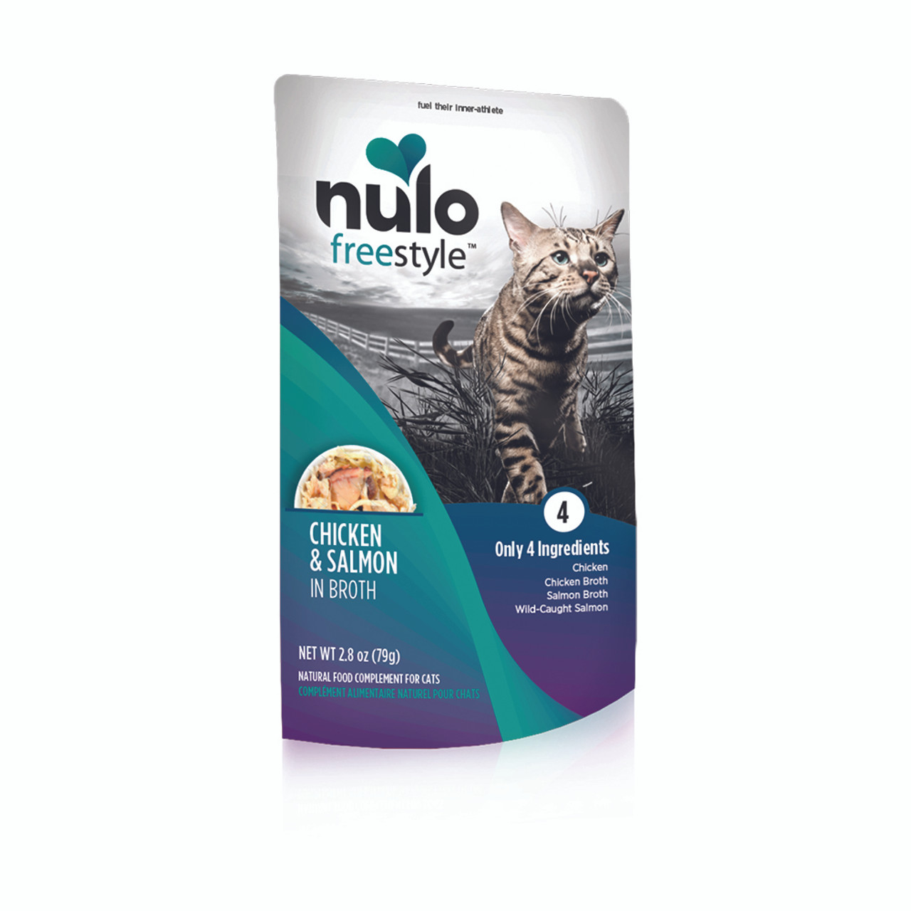 Nulo Freestyle Chicken & Salmon in Broth Cat Food Pouch