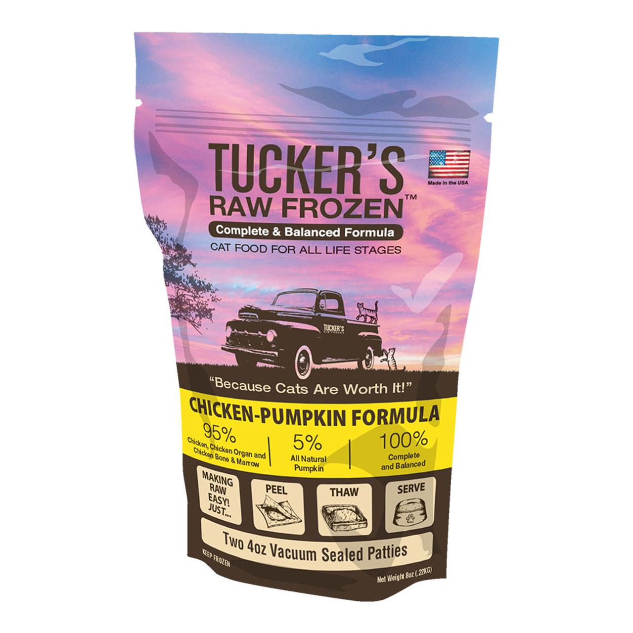 Tucker's Raw Frozen Chicken-Pumpkin Diet Cat Food