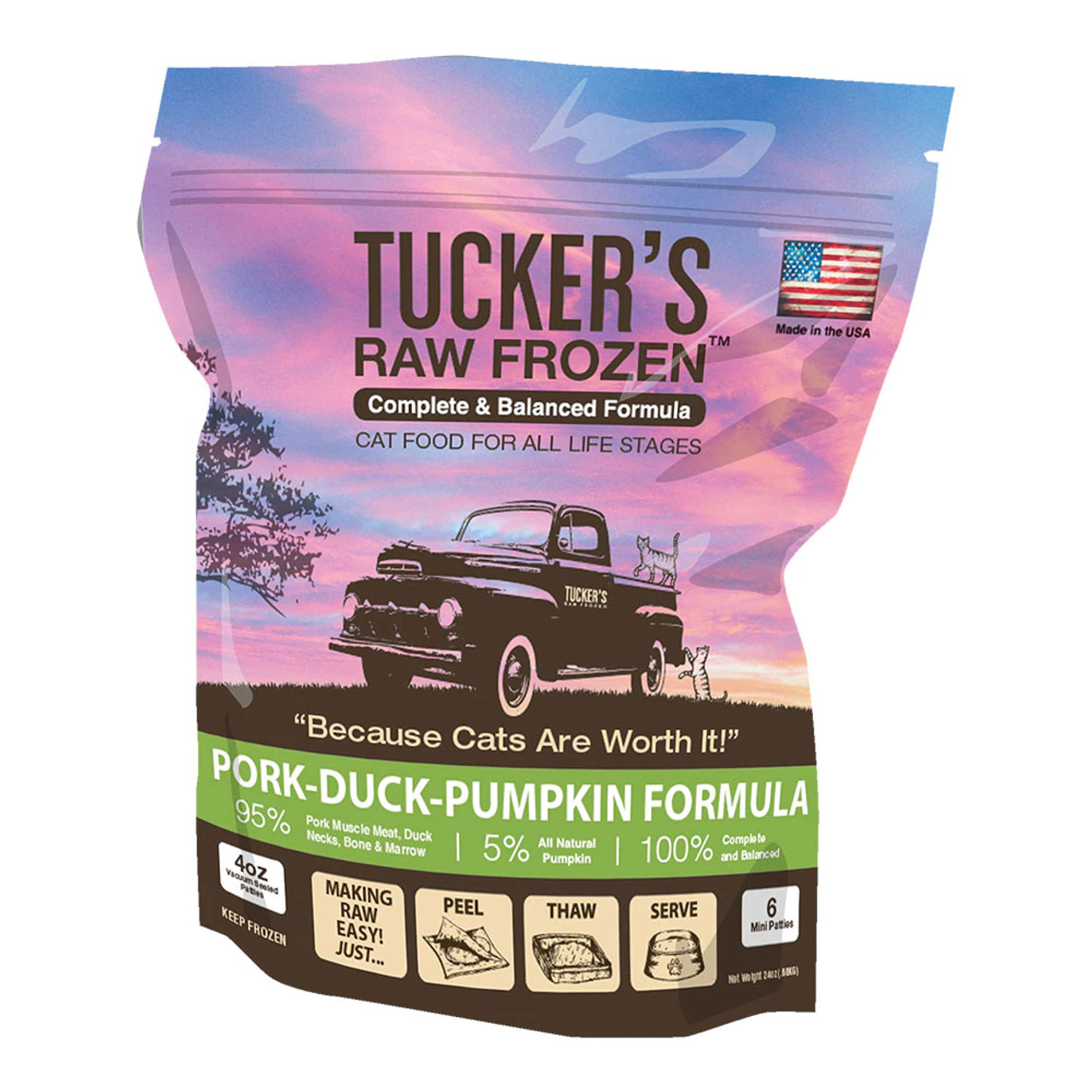 Tucker's Raw Frozen Pork-Duck-Pumpkin Diet Cat Food