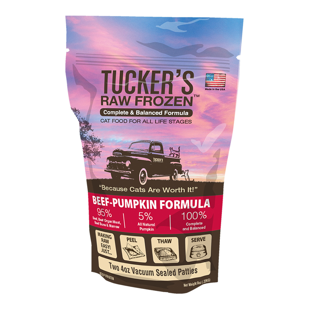 Tucker's Raw Frozen Beef-Pumpkin Diet Cat Food