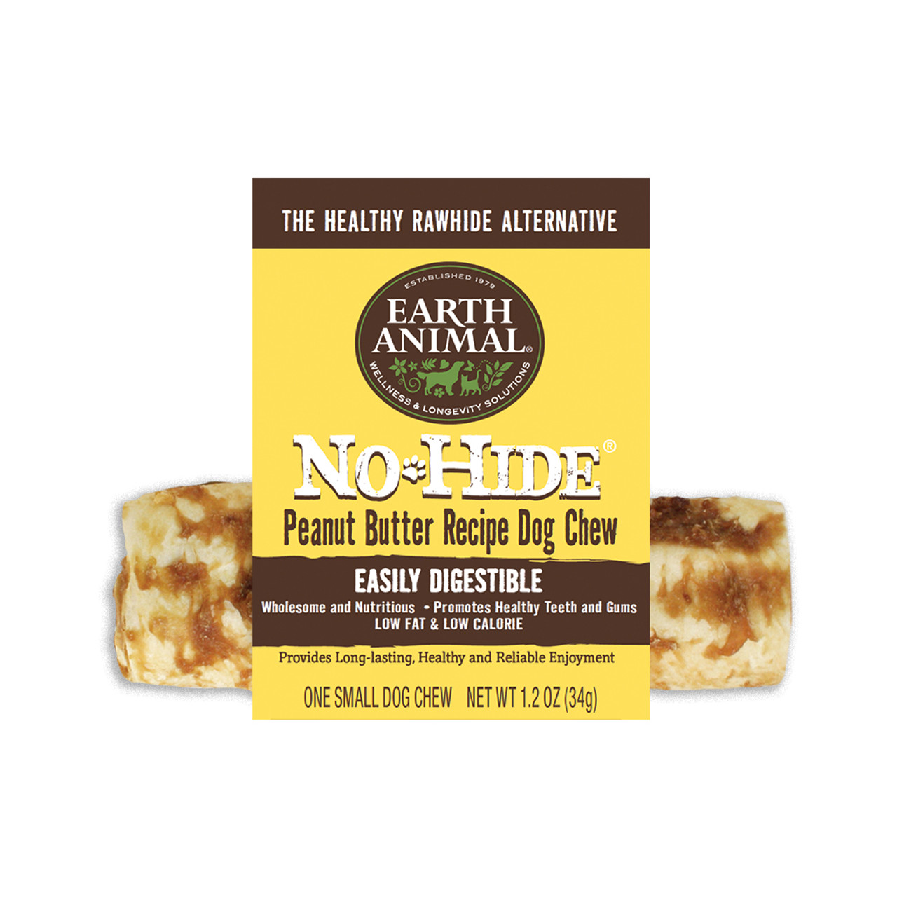 Earth Animal No-Hide Peanut Butter Dog Chew Treat