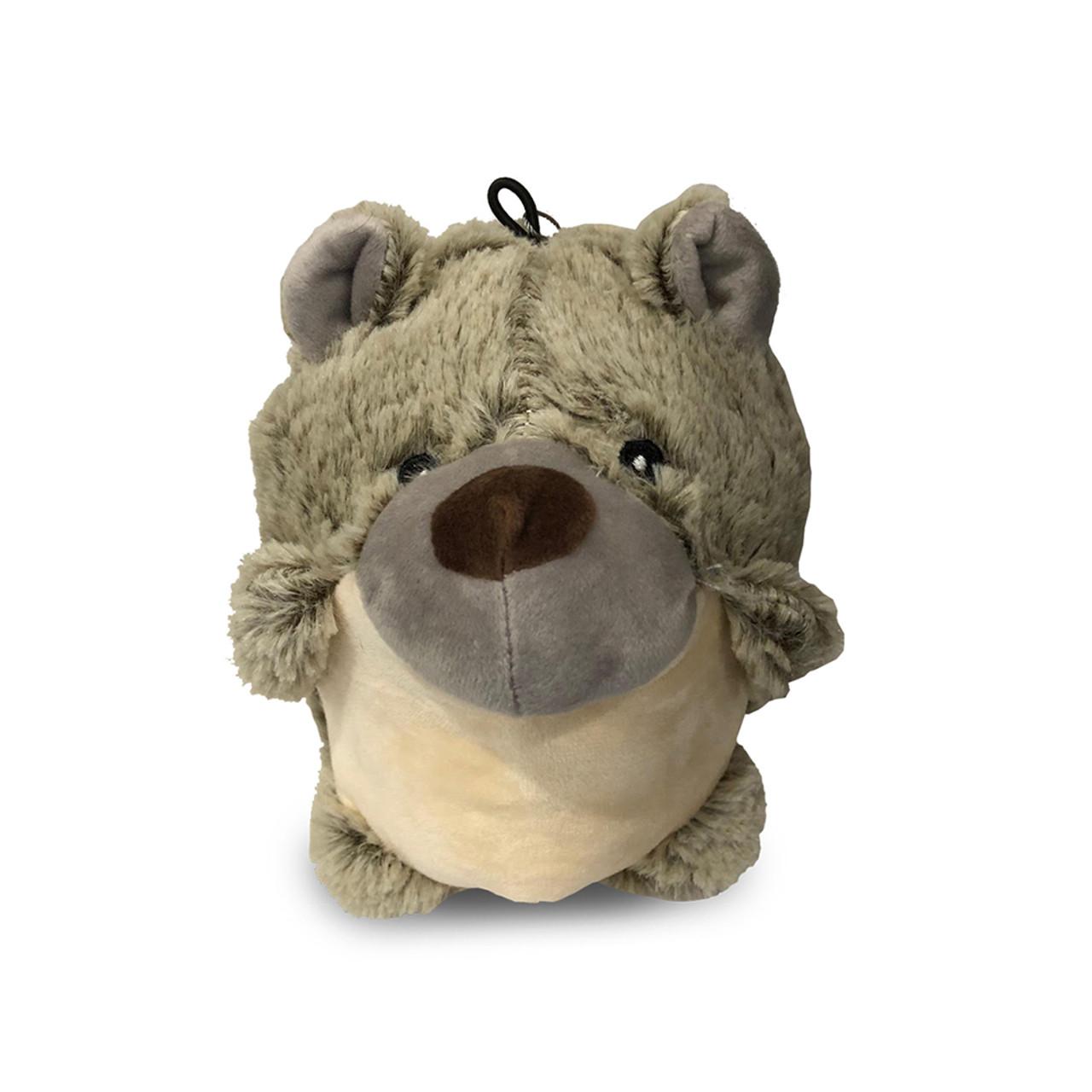 NanDog My BFF Grey Plush Big Body Bear Dog Toy