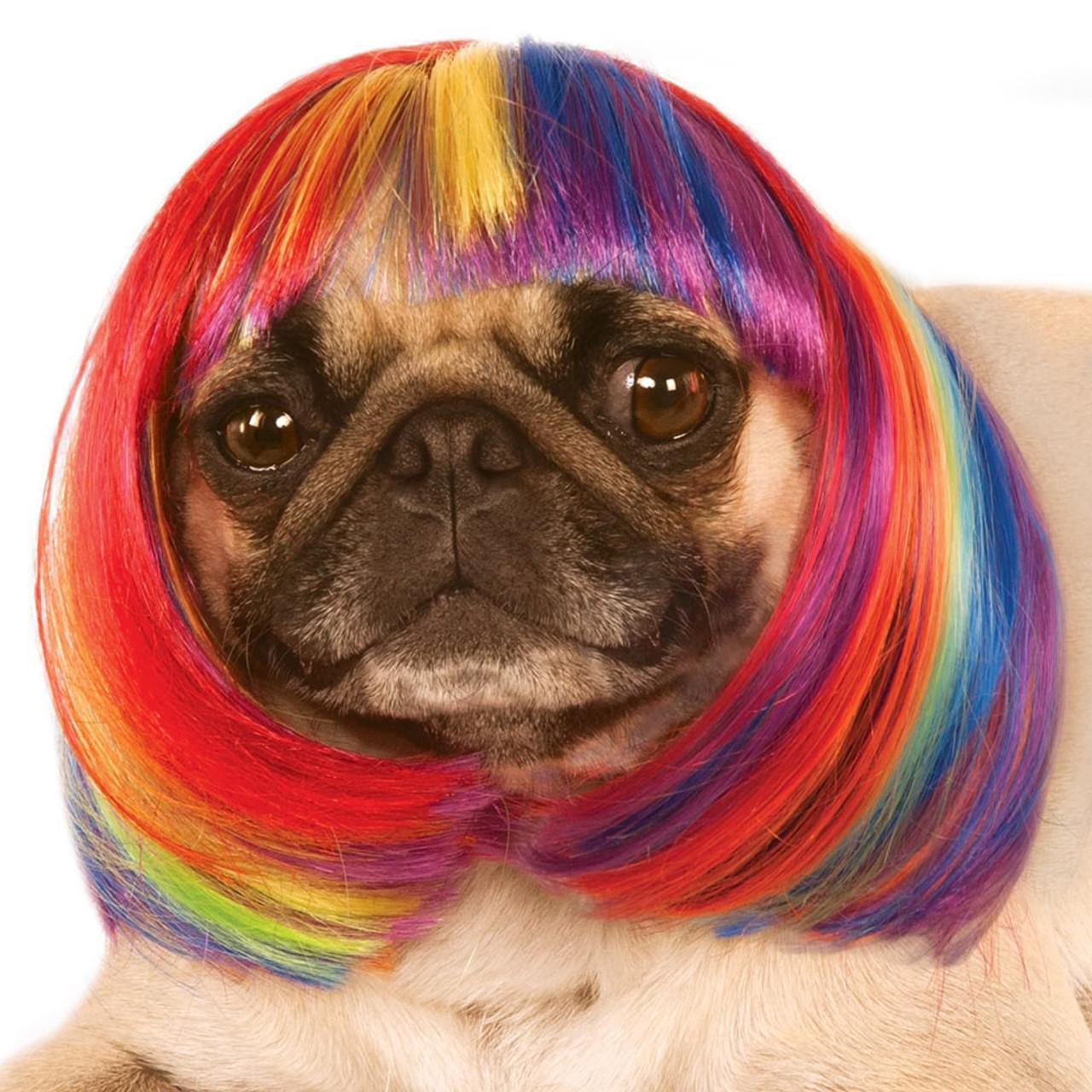 Rubie's Rainbow Bob Wig Pet Costume
