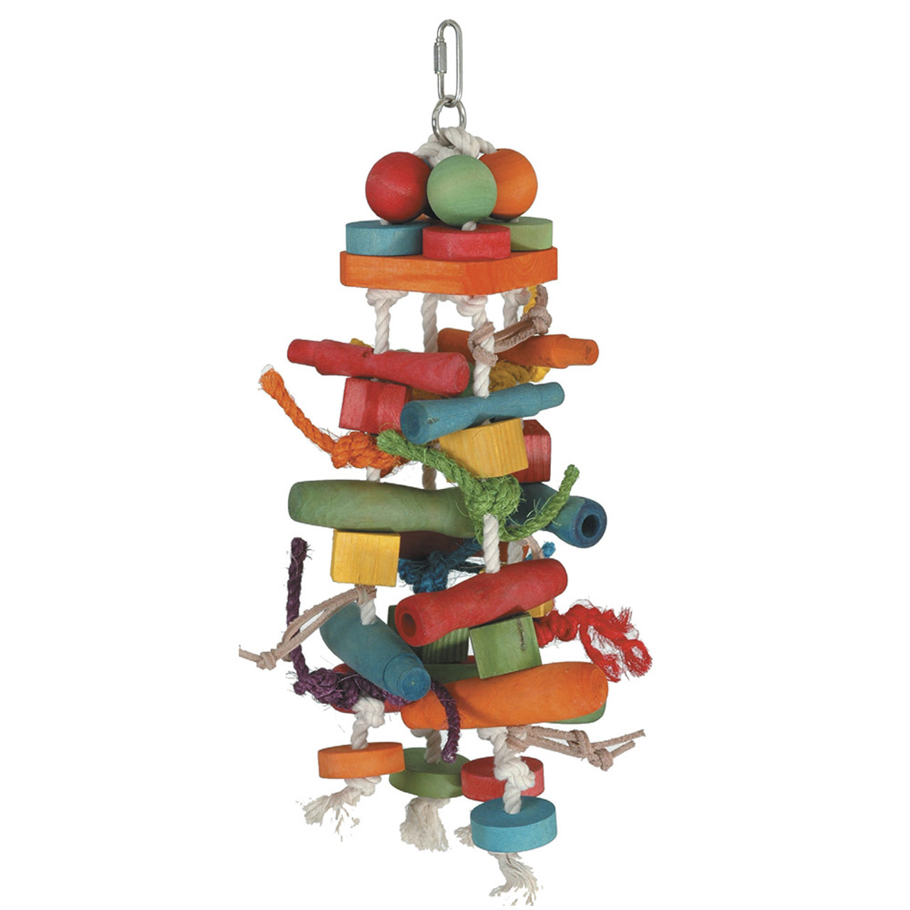 Featherland Paradise Chew N Push Pull Bird Toy