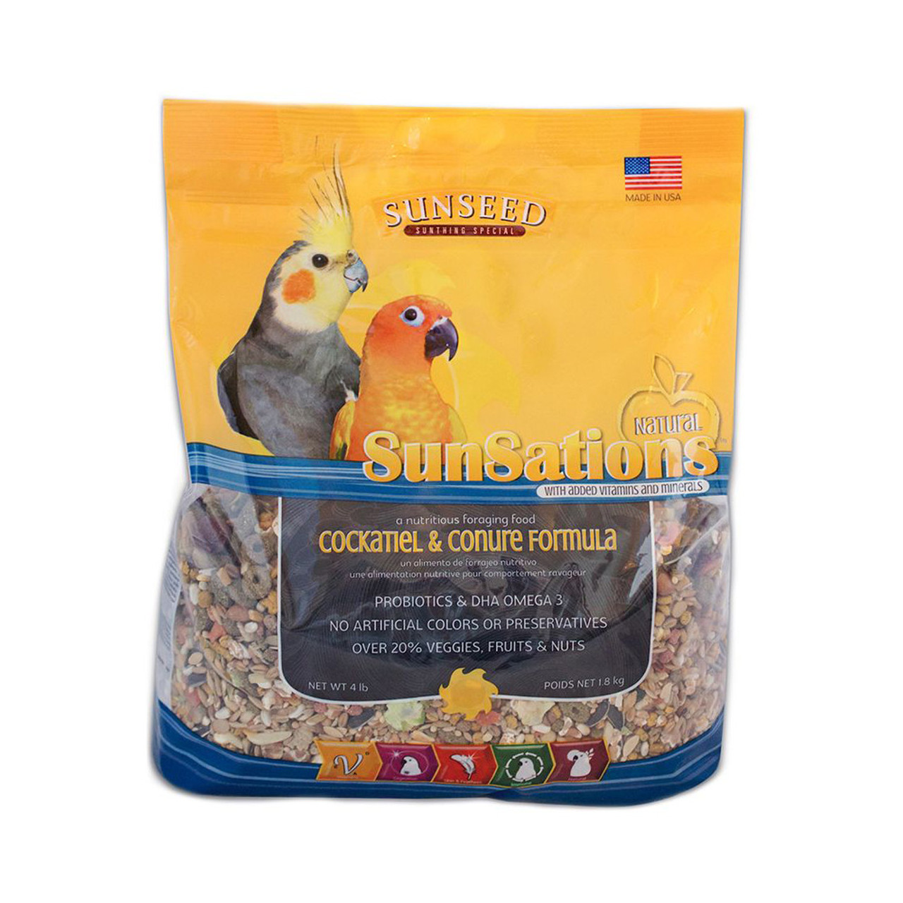 Vitakraft Sun Seed SunSations Natural Cockatiel & Conure Formula Bird Food