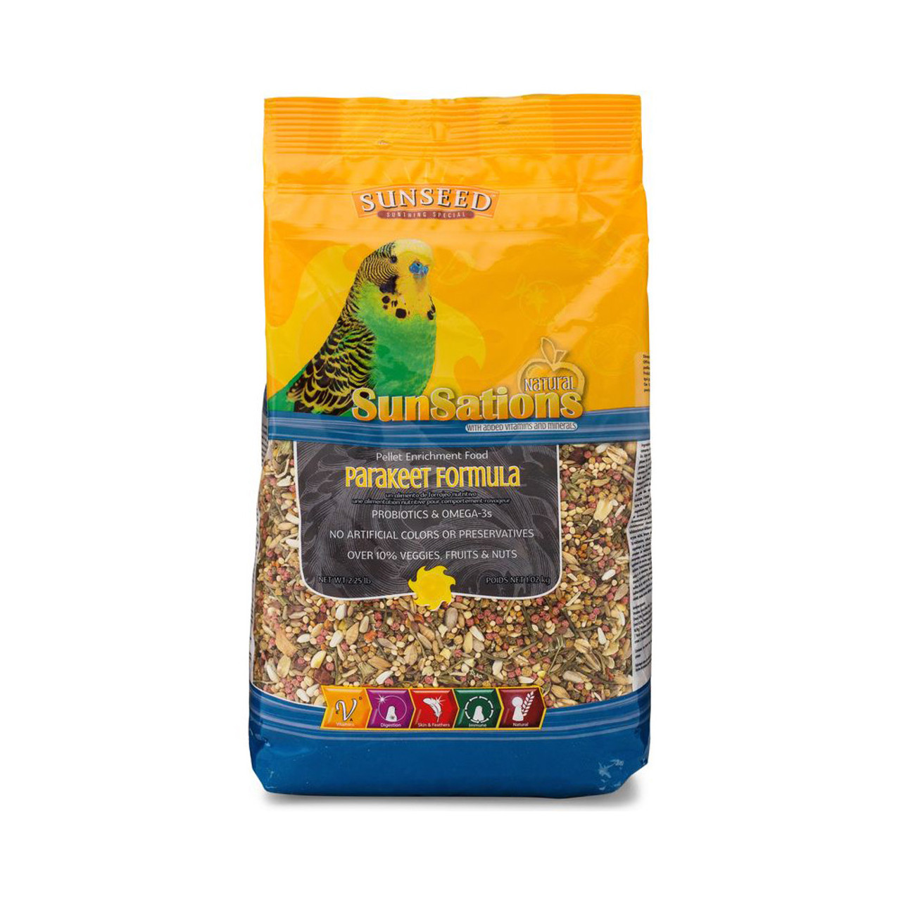 Vitakraft Sun Seed SunSations Natural Parakeet Formula Bird Food
