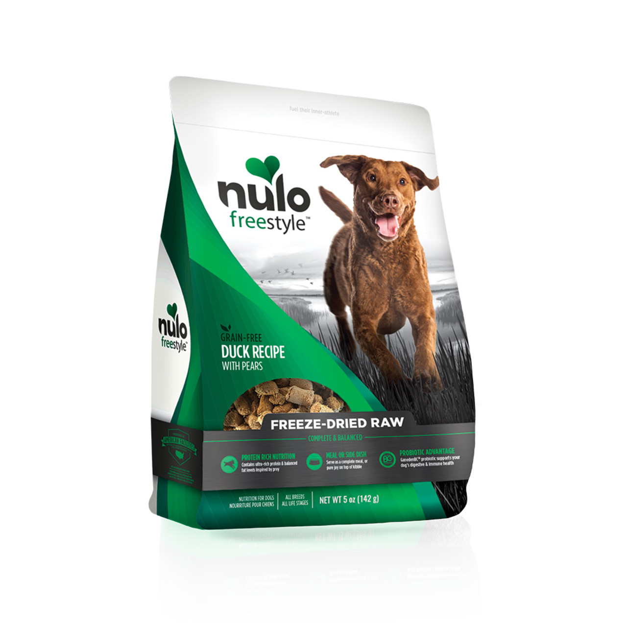 Nulo Freestyle Freeze-Dried Raw Duck Recipe with Pears Dog Food