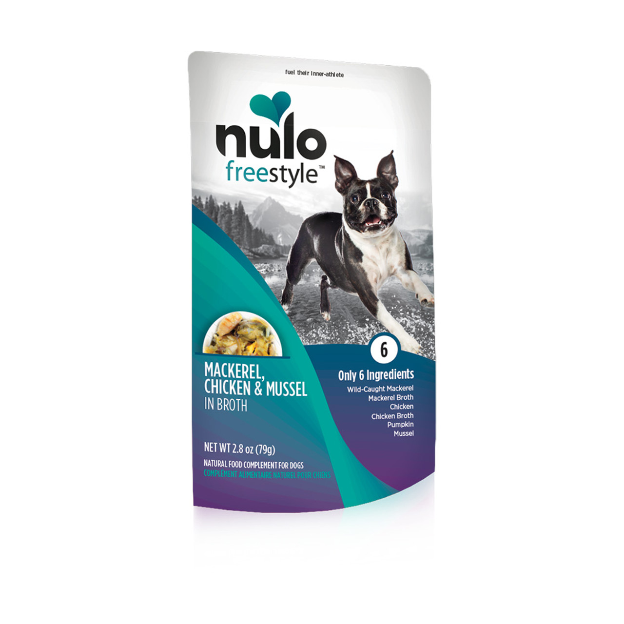 Nulo Freestyle Puppy & Adult Mackerel, Chicken & Mussel Recipe Dog Food Pouch