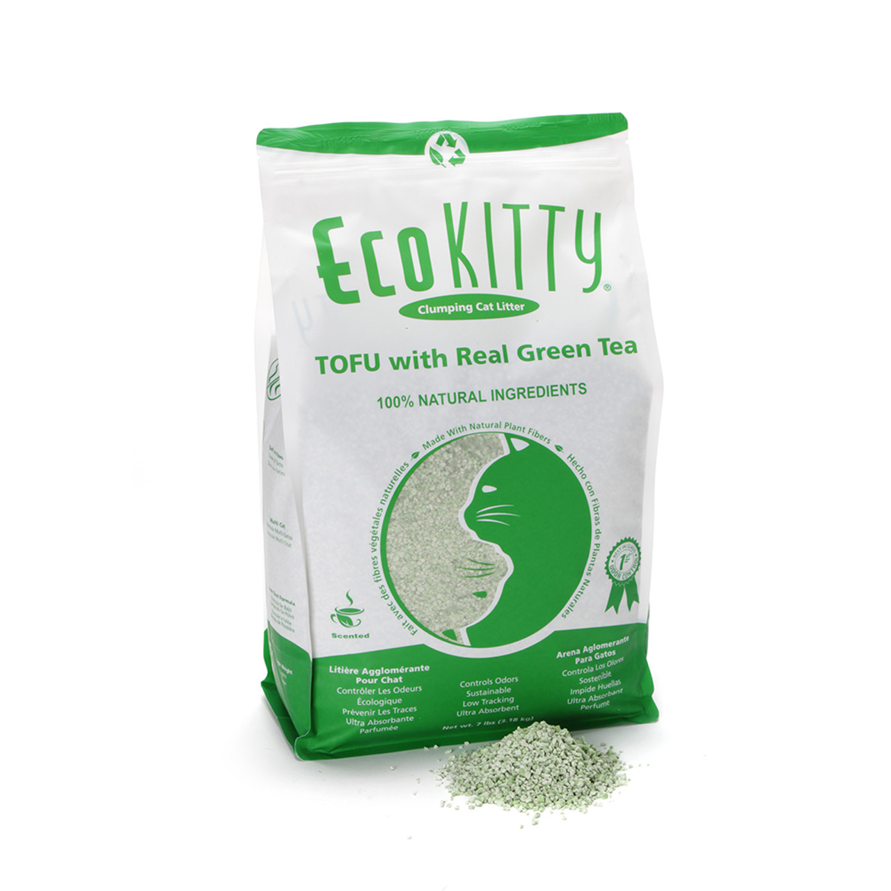 Eco Kitty Tofu with Real Green Tea Clumping Cat Litter
