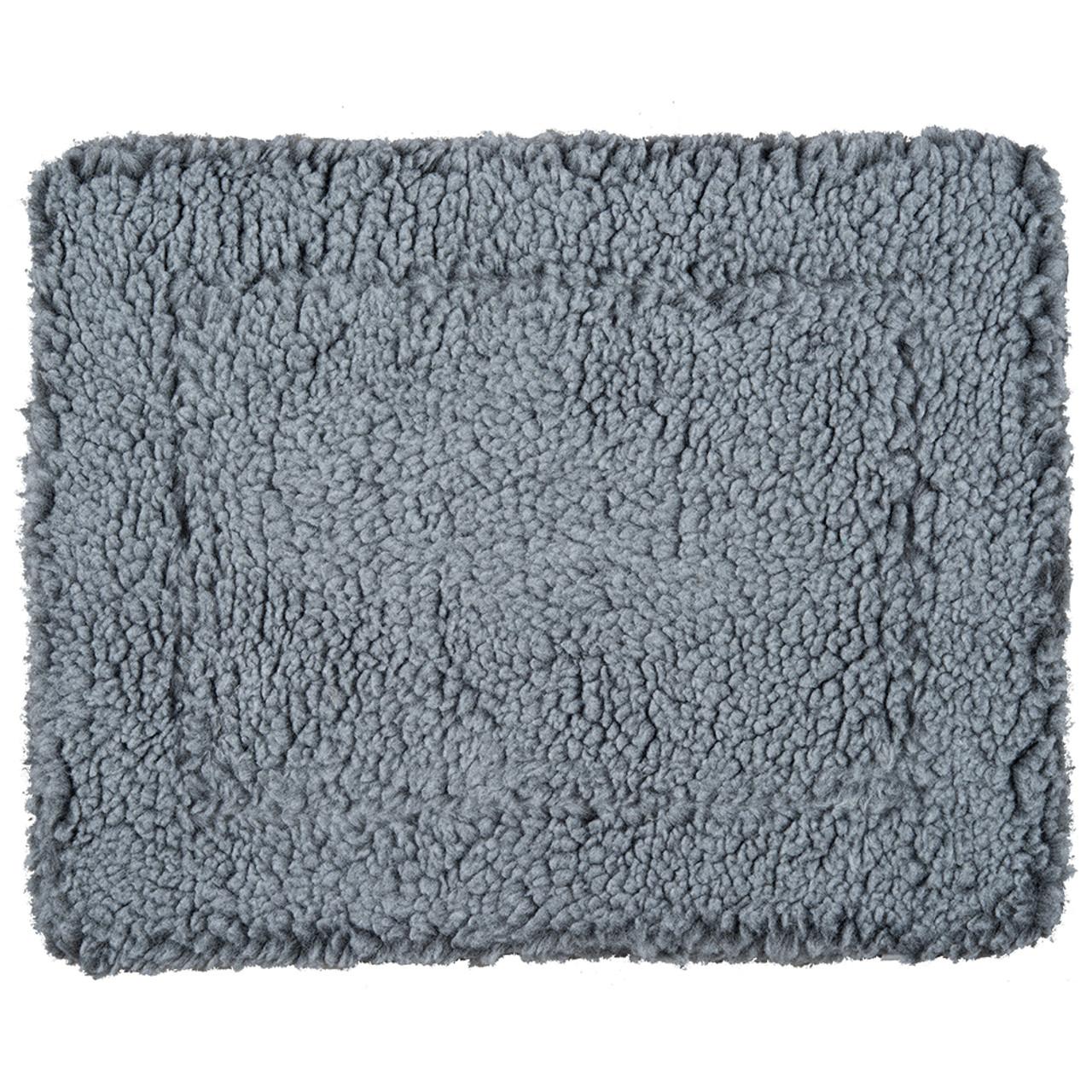 HuggleHounds HuggleFleece Gray Pet Mat - Front