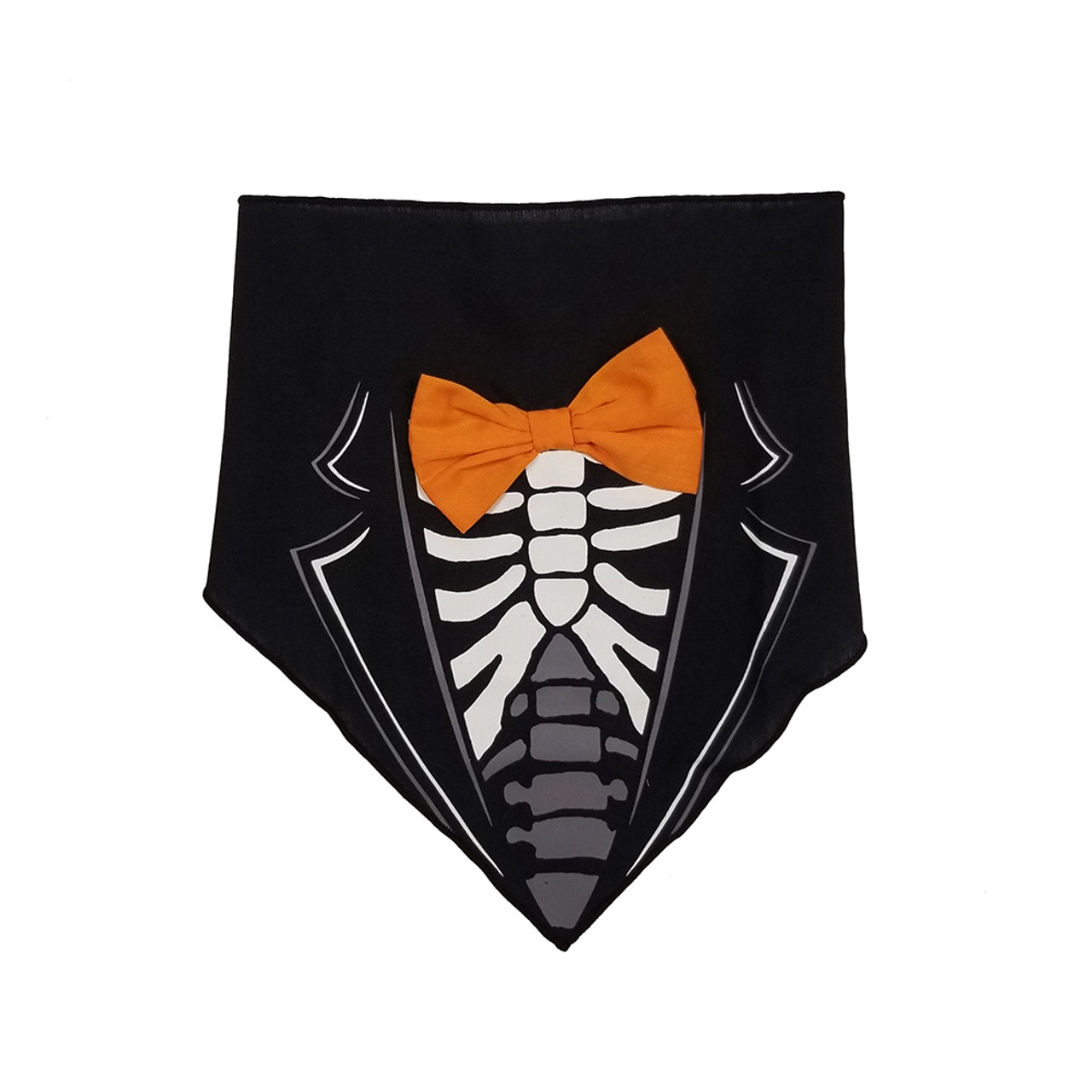 SimplyDog Dandy Skeleton Bow Dog Bandana