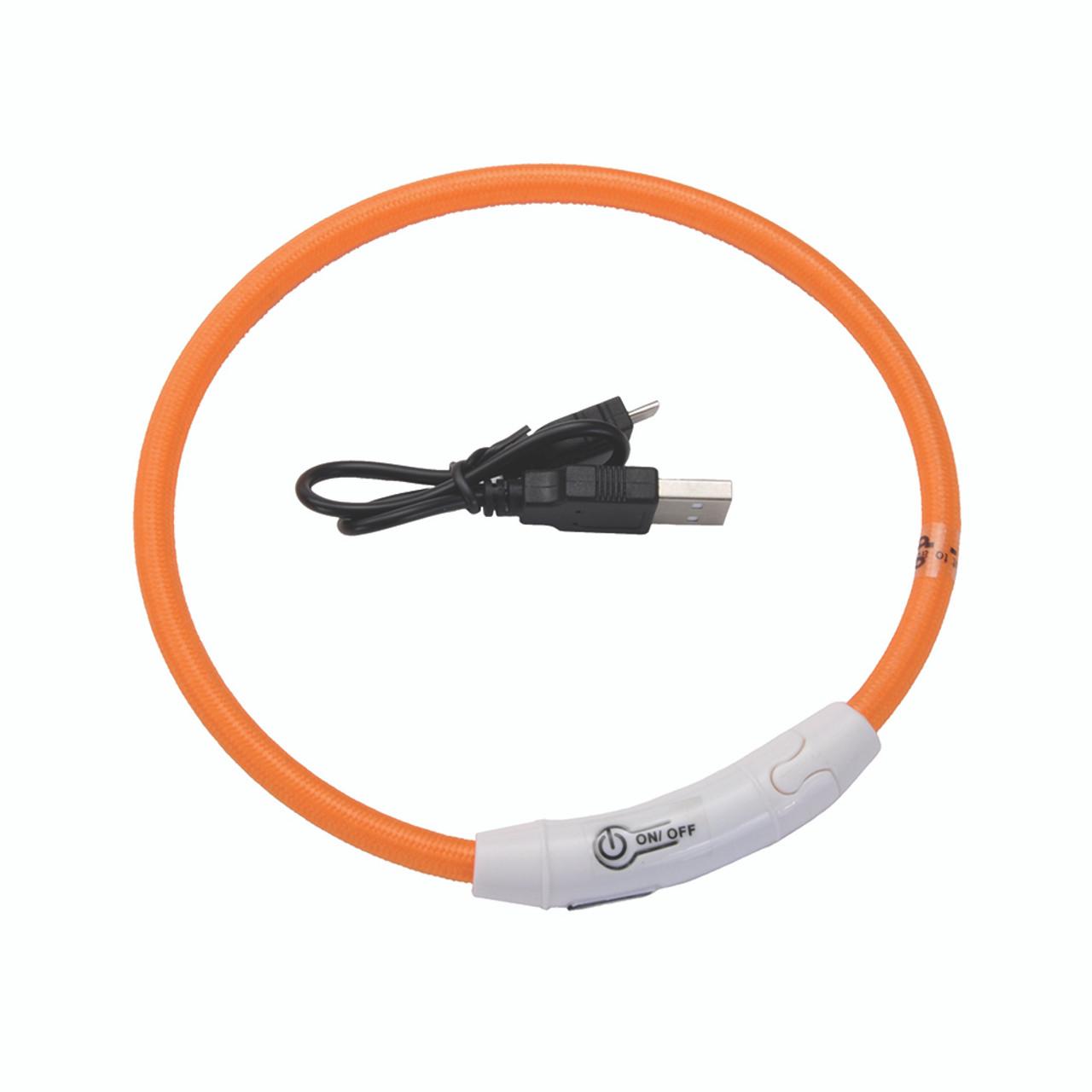 Coastal USB Light-Up Neck Ring Dog Collar