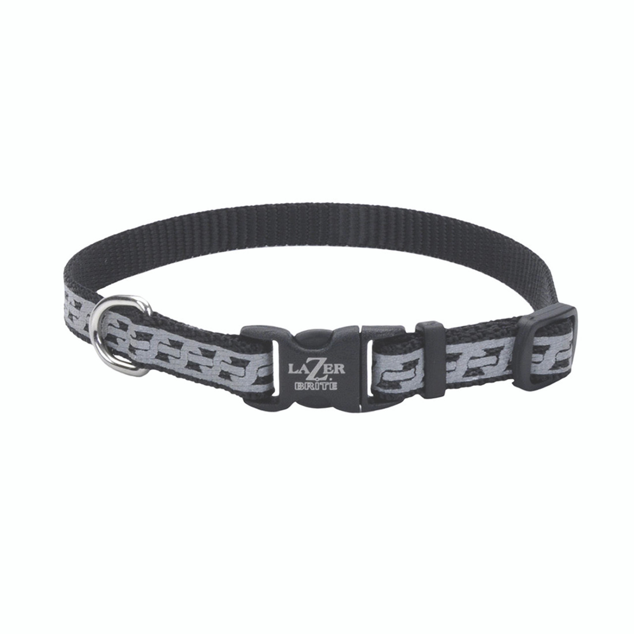 Lazer Brite Reflective Open-Design Adjustable Dog Collar