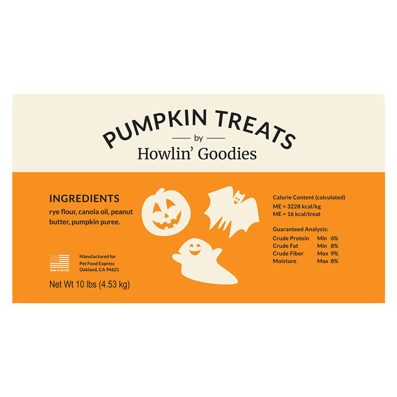 Howlin' Goodies Pumpkin Dog Biscuit Treats