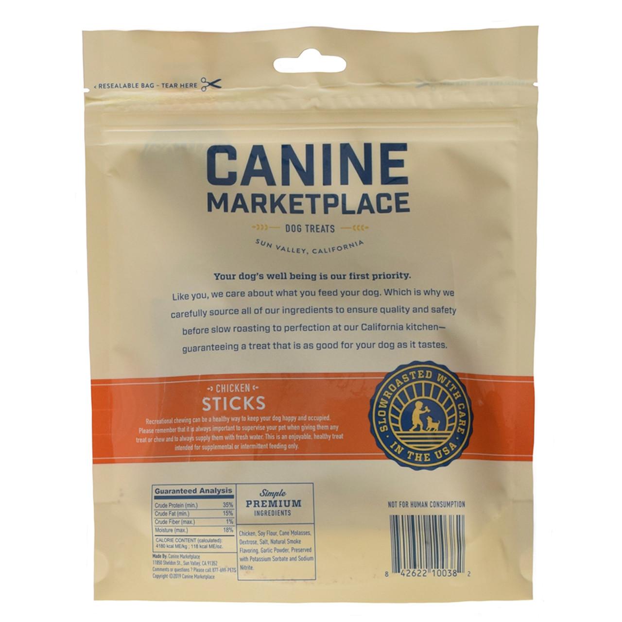 Canine Marketplace Chicken Sticks Natural Dog Treats