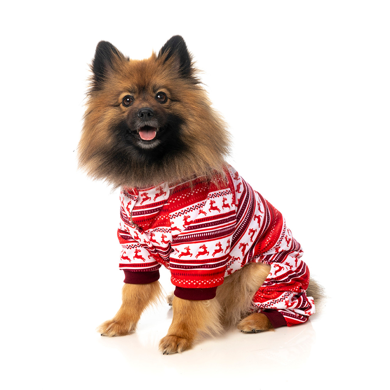 Fuzzyard Reindeer Red Dog Pajamas