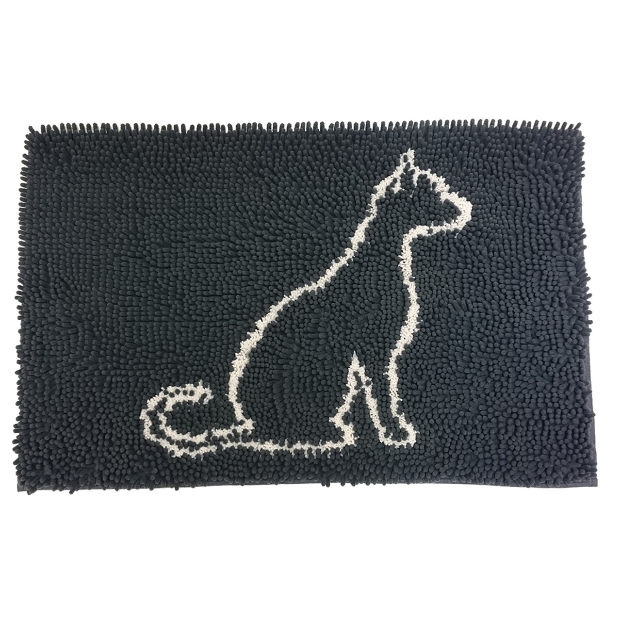 Clean Paws Gray Cat Mat