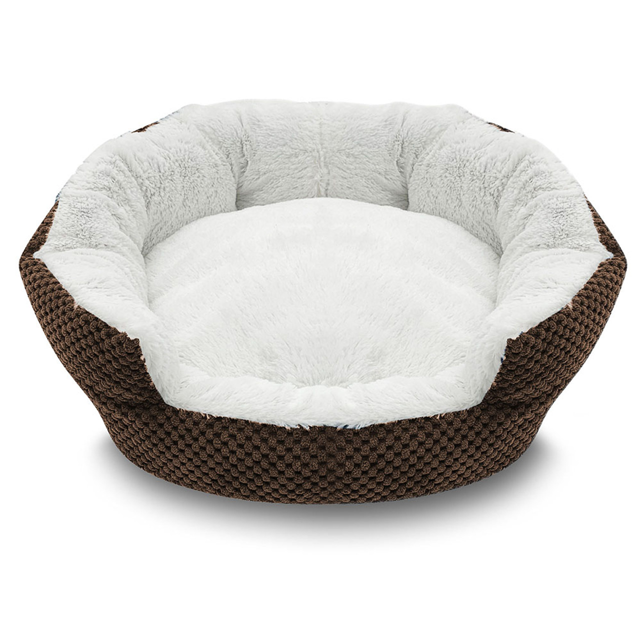 Pure Comfort Clamshell Brown Pet Bed